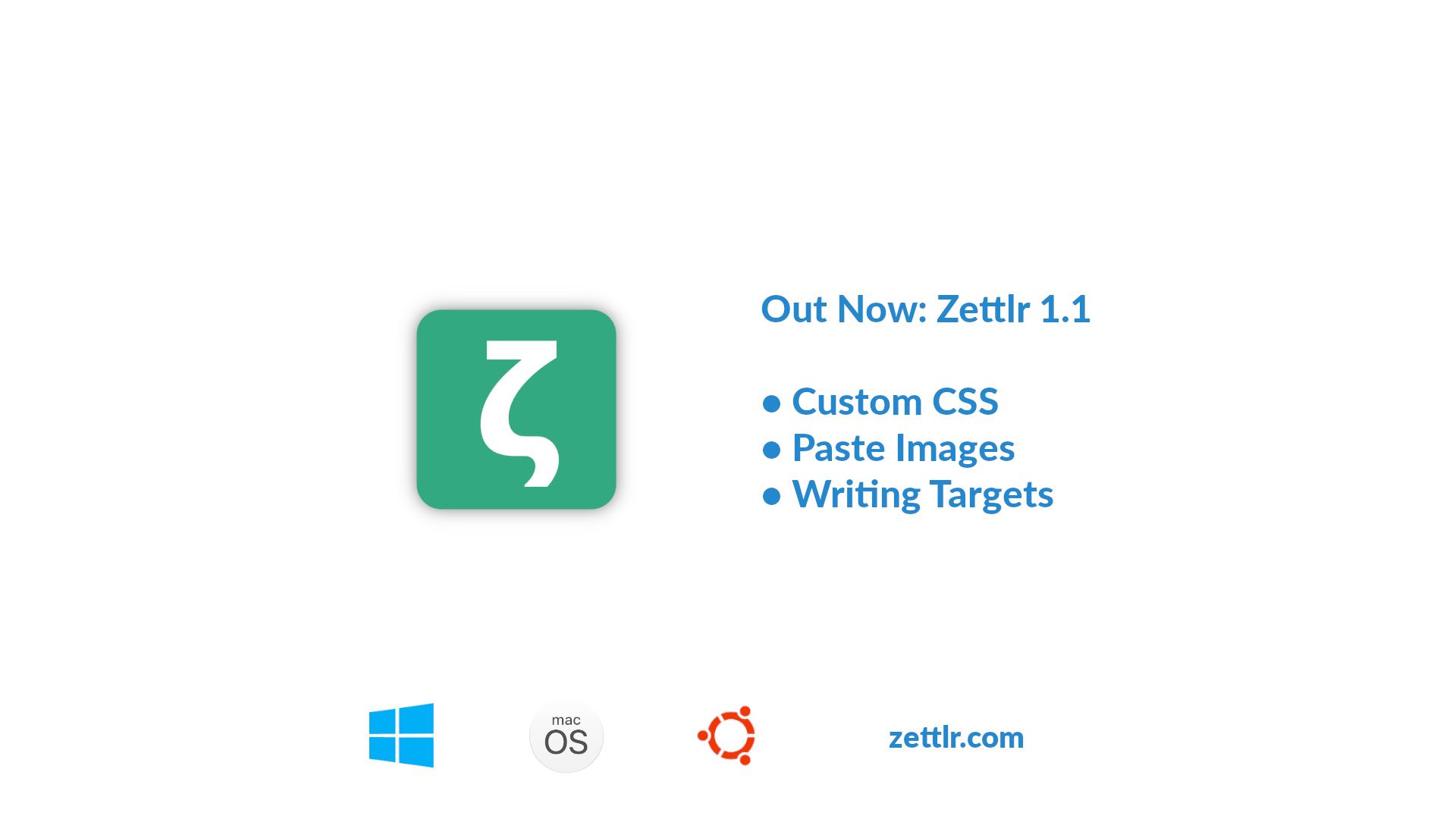 Zettlr 1.1.0 Released