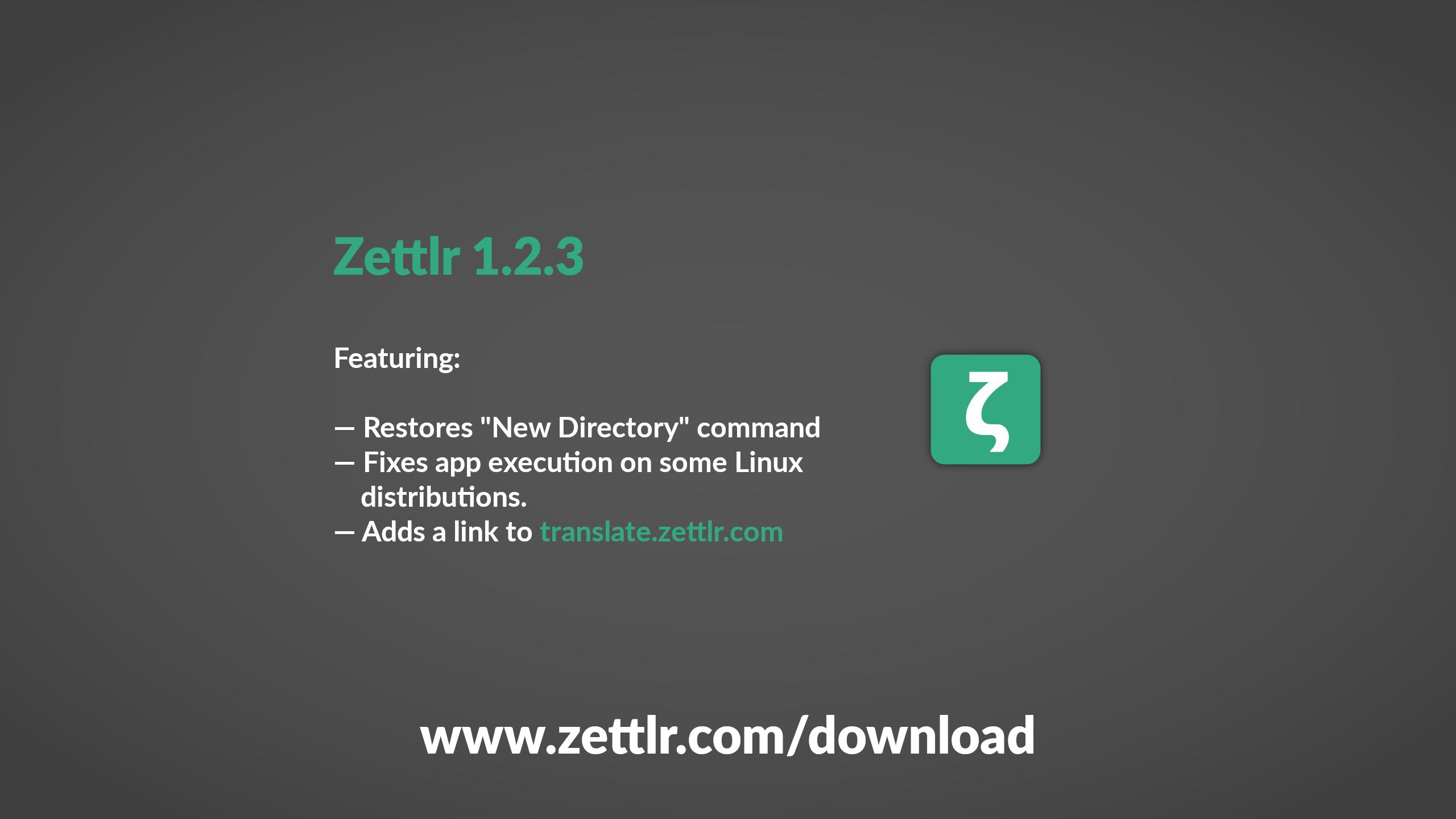 Zettlr 1.2.3 Released