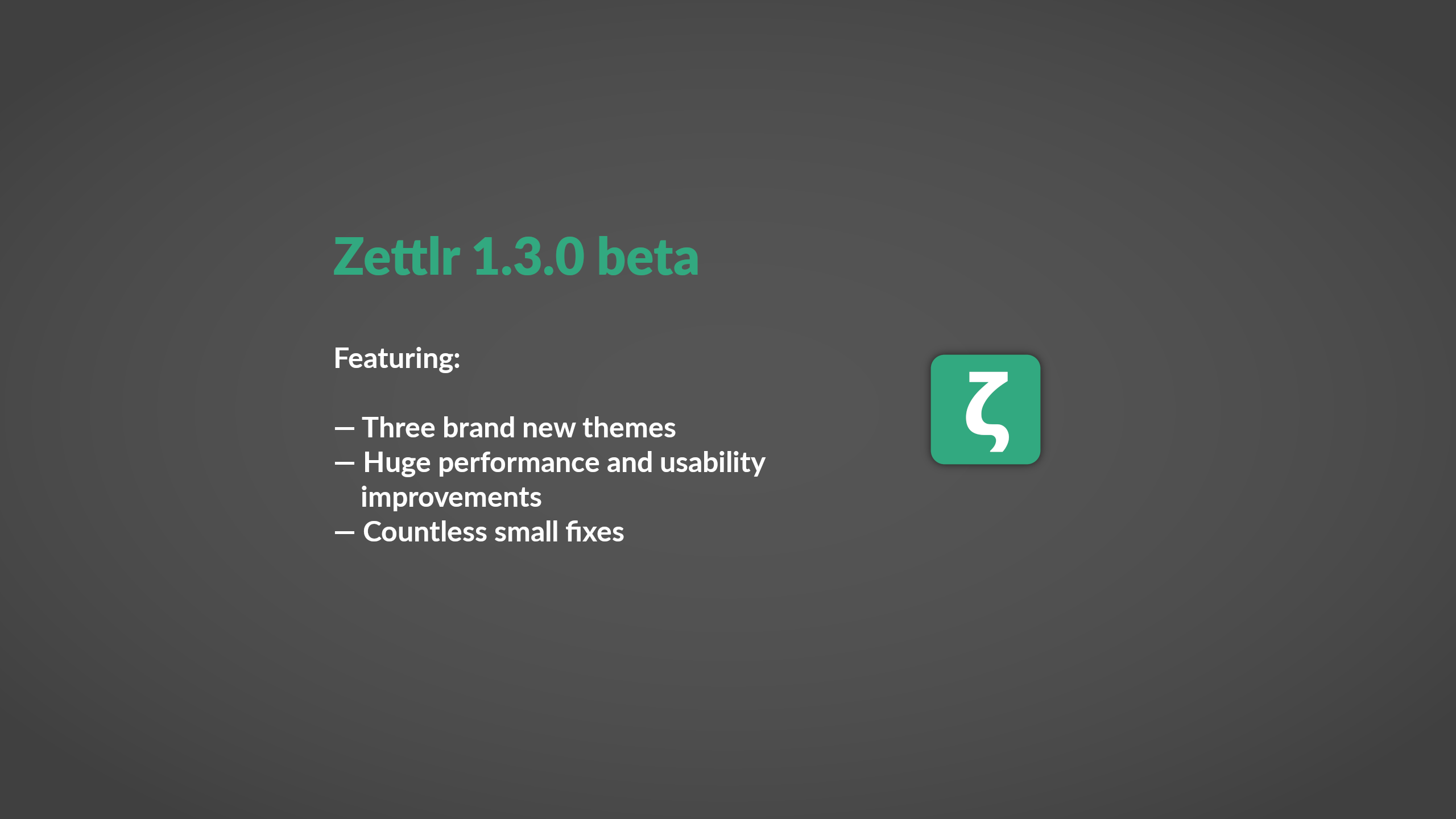 Beta Phase for Zettlr 1.3 begins