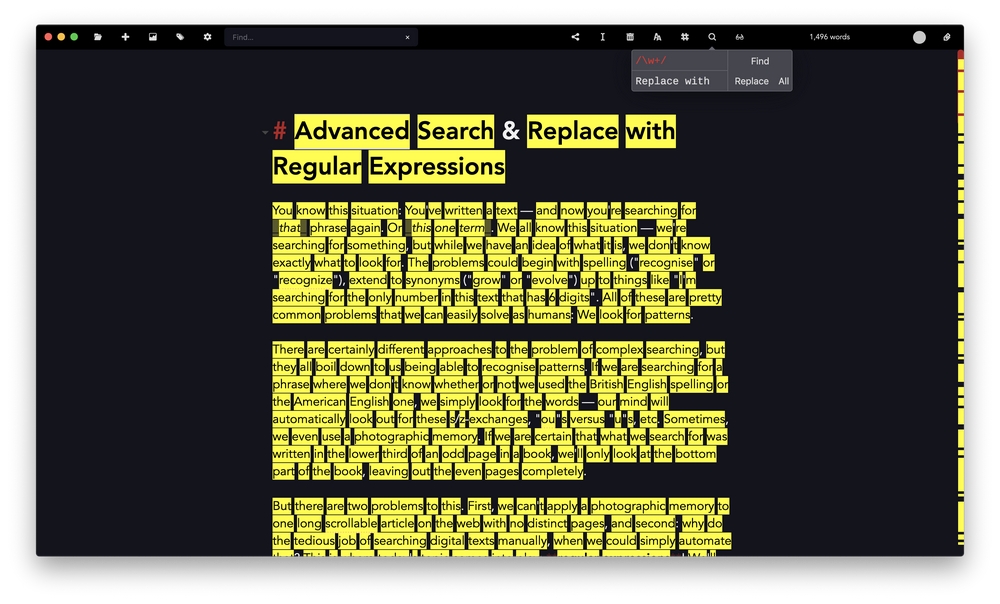 Advanced Search & Replace with Regular Expressions