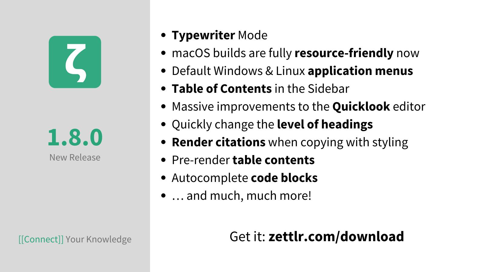 Zettlr 1.8.0 released